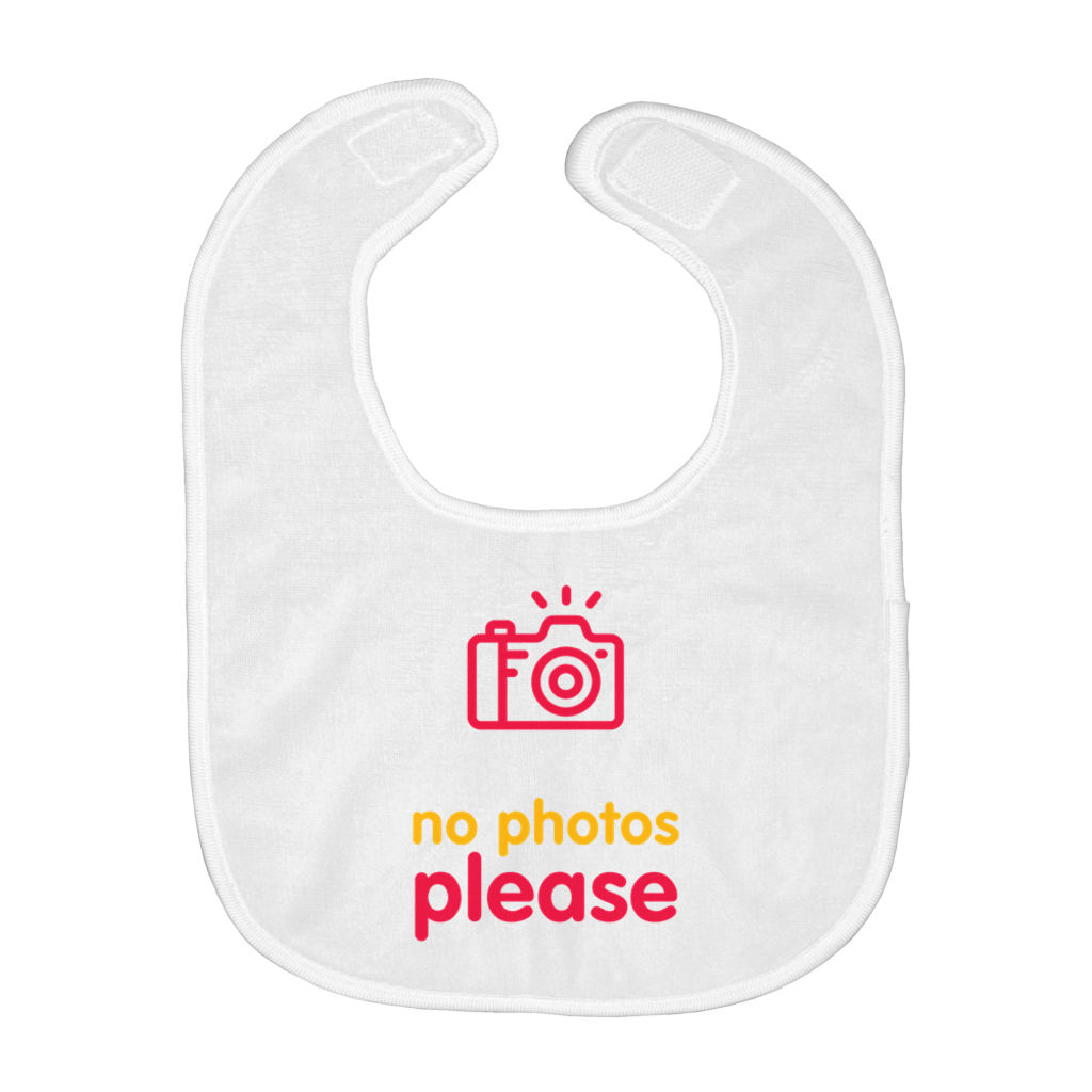 No Photos Bib (English)