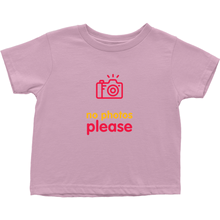 No Photos Toddler T-Shirts (English)