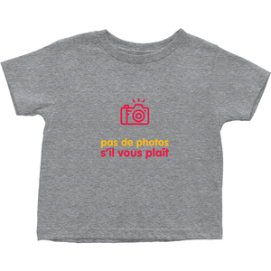 No Photos Toddler T-Shirts (French)