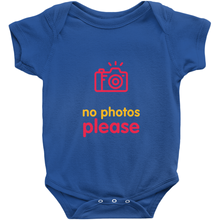 No Photos Onesie (English)