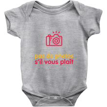 No Photos Onesie (French)