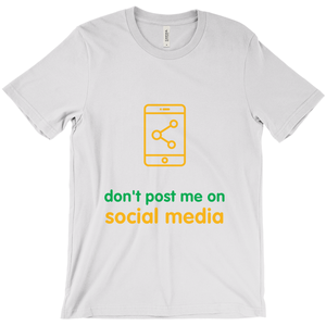 Don't Post Adult T-Shirts (English)