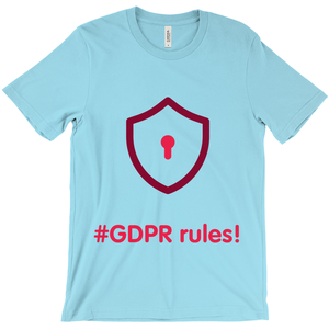 GDPR Rules Adult T-Shirts (English)