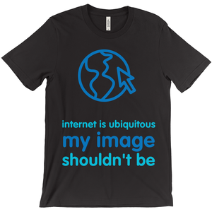 Internet is Ubiquitous Adult T-Shirts (English)