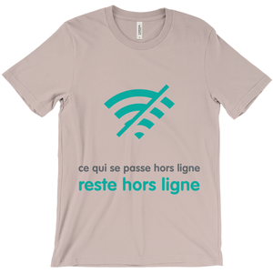 What Happens Offline Adult T-Shirts (French)