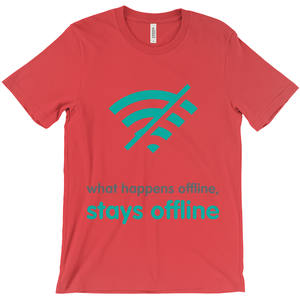 What Happens Offline Adult T-Shirts (English)