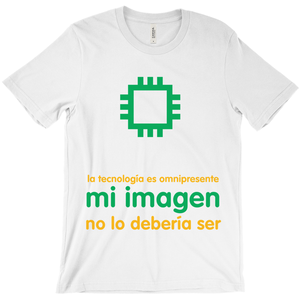 Tech is Ubiquitous Adult T-Shirts (Spanish)