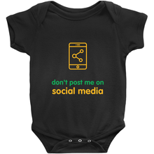 Don't Post Me Onesie (English)