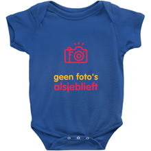 No Photos Onesie (Dutch)