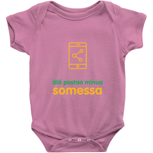Don't Post me Onesie (Finnish)