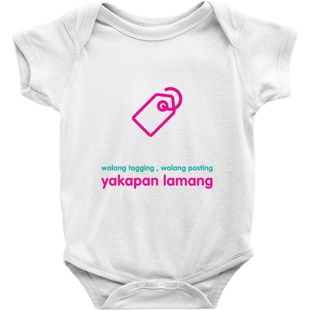 No tagging Onesie (Filipino)