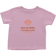 Let me Decide Toddler T-Shirts (French)