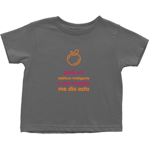I asked for a Smartphone Toddler T-Shirts (Spanish)