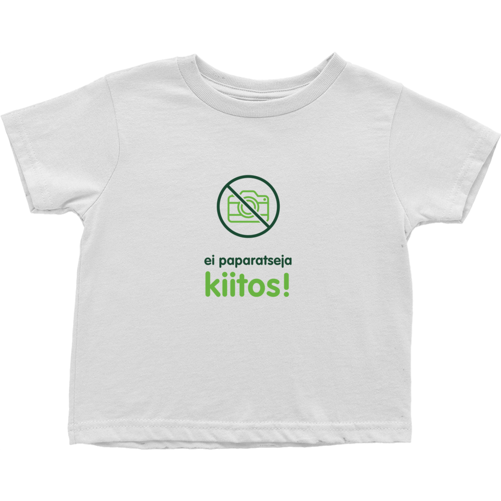 No Paparazzi Toddler T-Shirts (Finnish)