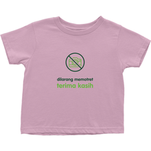 No Paparazzi Toddler T-Shirts (Indonesian)