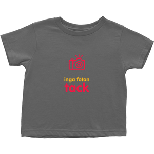 No Photos Toddler T-shirt (Swedish)