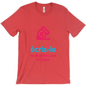 Write it  Adult T-shirt (French)