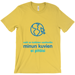 Internet is Ubiquitous Adult T-shirt (Finnish)