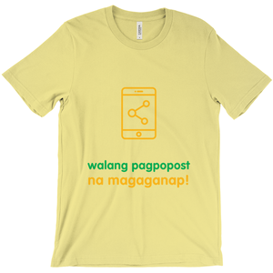 Don't Post Adult T-shirt (Filipino)