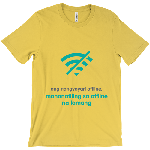 What happens offline Adult T-shirt (Filipino)