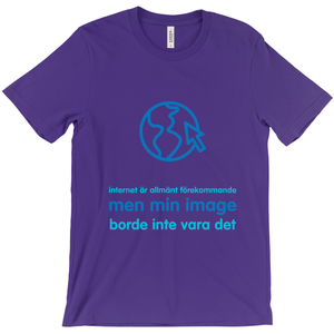 Internet is Ubiquitous Adult T-shirt (Swedish)