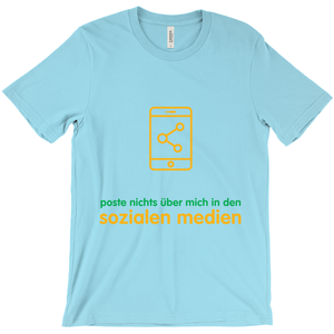 Don't Post  Adult T-shirt (German)