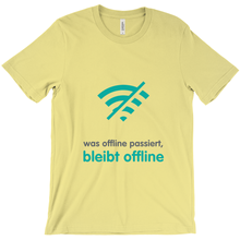 What happens offline Adult T-shirt (German)