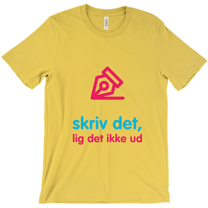Write Adult T-shirt (Danish)