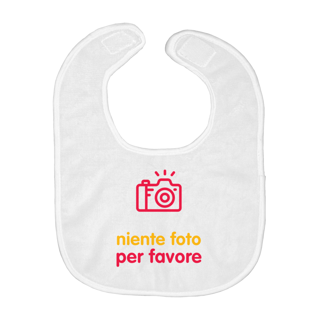 No Photos Bib (Italian)