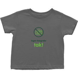 No Paparazzi Toddler T-Shirts (Danish)