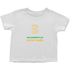 Don't Post me Toddler T-Shirts (Italian)