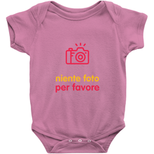 No Photos Onesie (Italian)
