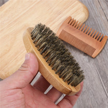 Moustache Beard  Bristle Brush and Bamboo Comb Set