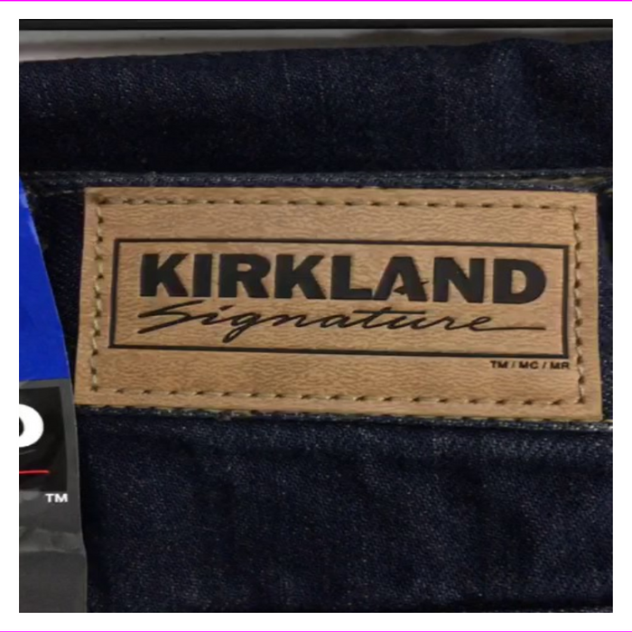 Kirkland Signature Men's Dark Wash Relaxed Fit Jeans
