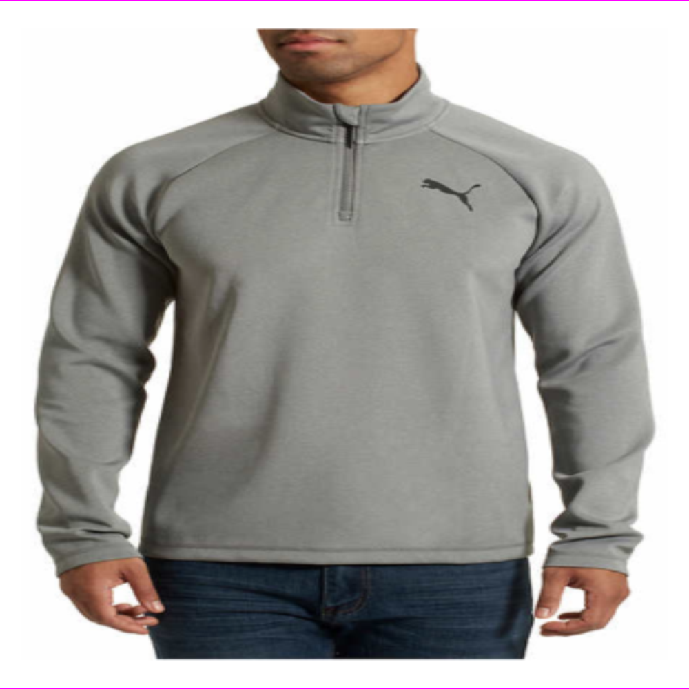 Puma Men's Active ¼ Zip Pullover with Moisture Wicking