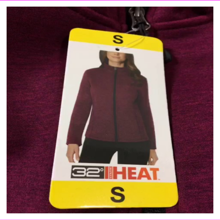 32 DEGREES Women's Heat Tech Fleece Full Zip Jacket