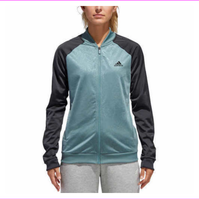 Adidas Ladies' Embossed Floral Full Zip Track Jacket
