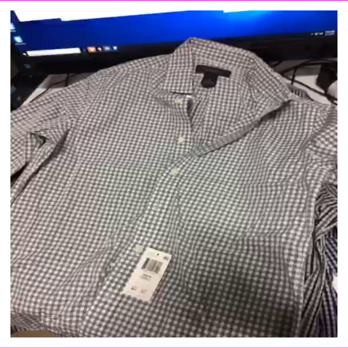 Bloomingdales The Mens Store Grey Gingham Slim Fit Button