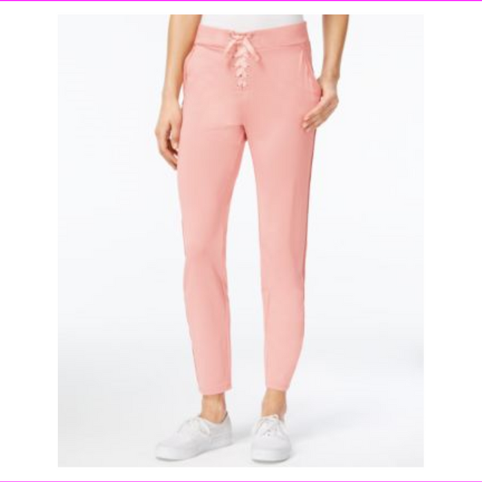 Material Girl Juniors Lace-Up Jogger Pants