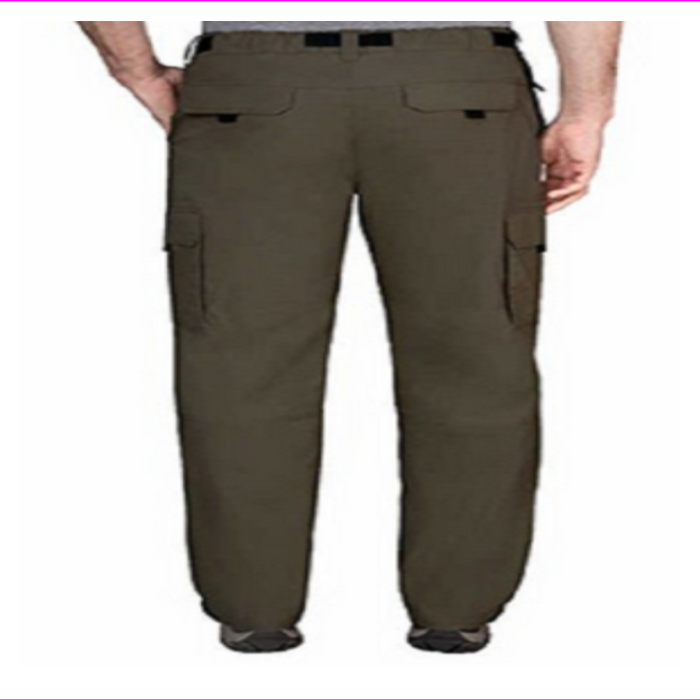 BC Clothing Men's Convertible Stretch Cargo Hiking Pants Shorts Zippered Pockets