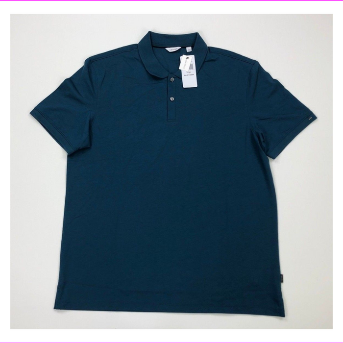 Calvin Klein Men's 100% Cotton Liquid Touch Polo Shirt