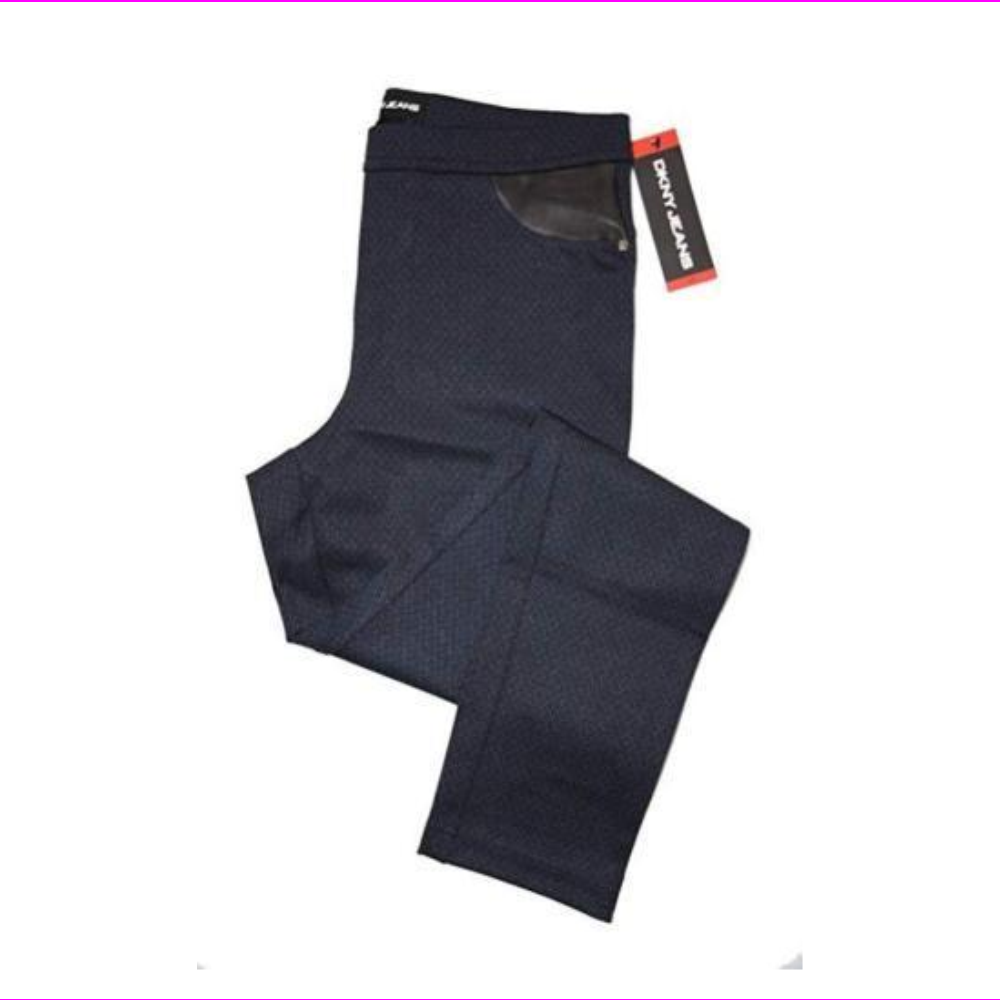 DKNY Ladies' Pull-on Ponte Pant Navy Texture XS