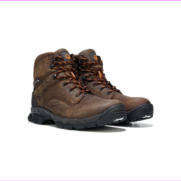 "Wolverine Men's Glacier Ice EPX 6"" Insulated Safety Toe Work Boots Brown"