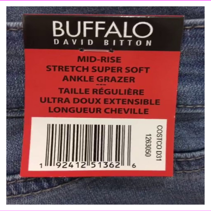 Buffalo David Bitton Women's Mid-Rise Ankle Grazer pant