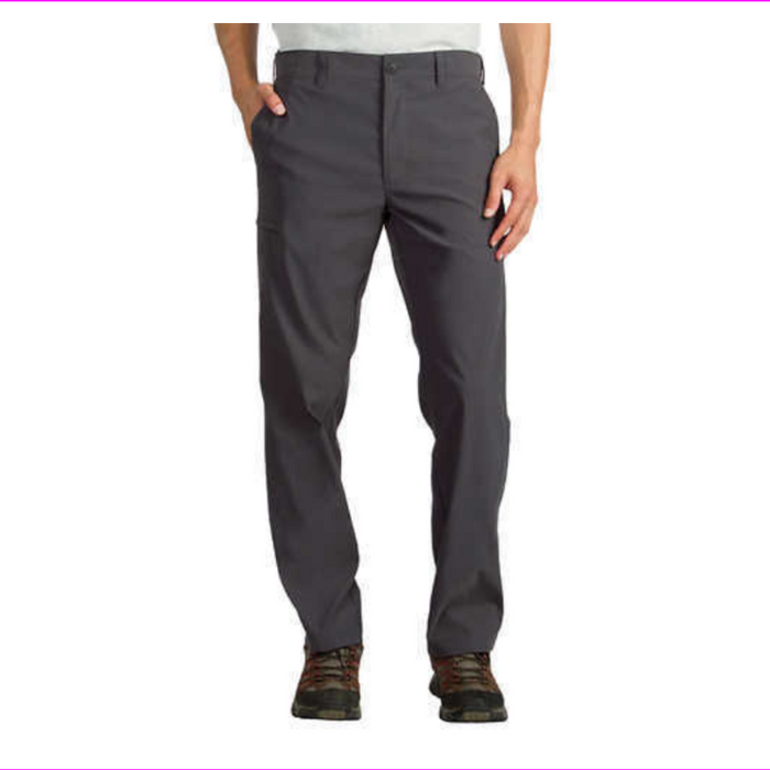 Union Bay Ub Tech Men's  Classic Fit Comfort Waist Flat Front Chino TRAVEL Pant