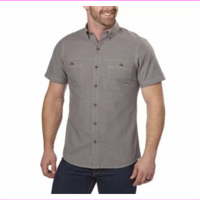 G.H. Bass & Co. Men's Short Sleeve Woven Shirt