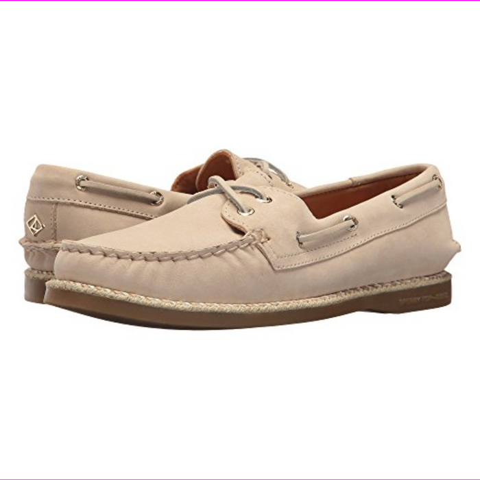 Sperry Top-Sider A/O 2-Eye Braided Jute Welt Women's Shoes Ivory 5 M (B)
