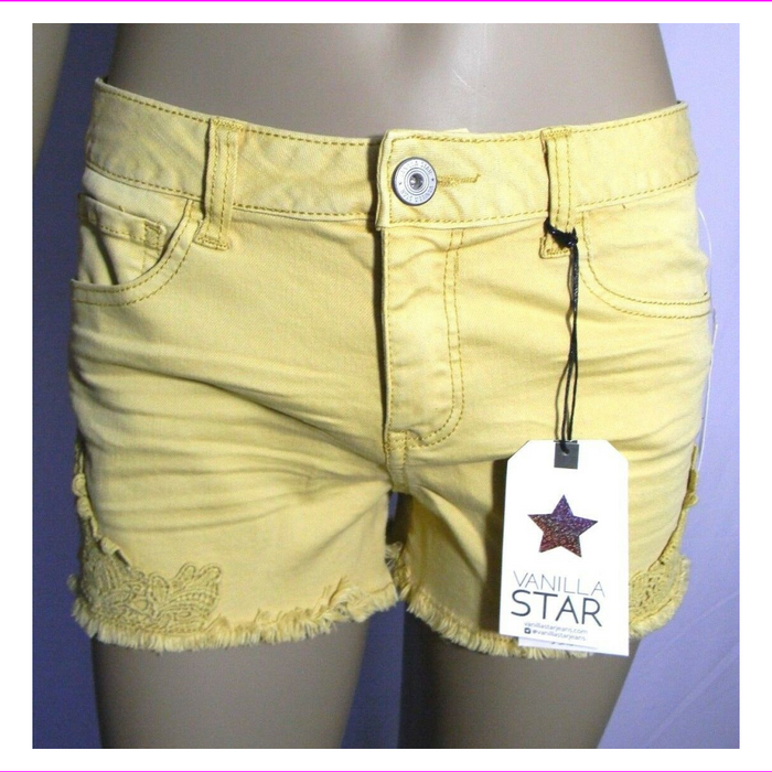 Vanilla Star Shortie Shorts Juniors Crochet-Trim Faded Sun Shorts