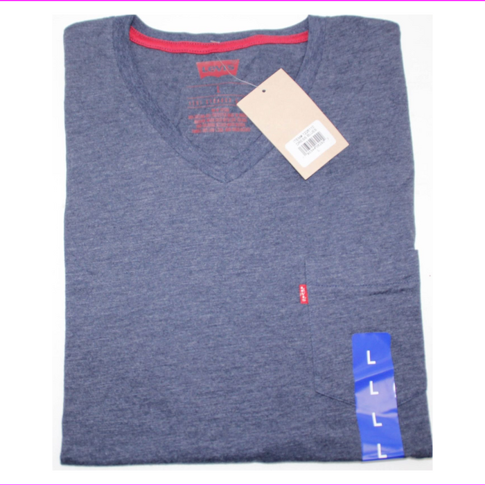 Levis Men's V-Neck T-Shirt one pocket