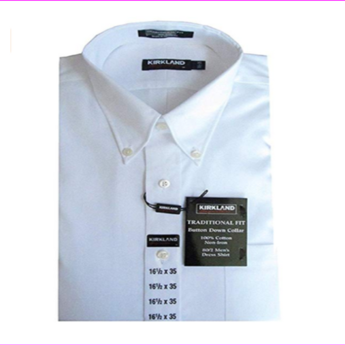 Kirkland Signature Men's Traditional Fit Long Sleeve Wrinkle-free Dress Shirt